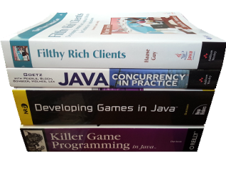 Picture of book recommendations for Java graphics